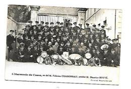 CP PHOTO  CLOHARS SOUVENIR DE TOULFOUEN 1959 L'HARMONIE DE COSNE FELICIEN CHARONNAT PRESIDENT MAURICE BOTTE - Quimperlé