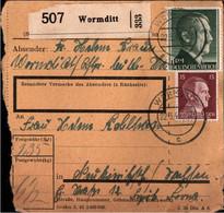 ! 1943 Wormditt Nach Neukieritzsch, Paketkarte, Deutsches Reich, 3. Reich - Lettres & Documents