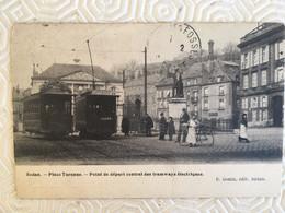 SEDAN-Place Turenne-Point De Départ Central Des Tramways électriques Ed.Genin - Sedan