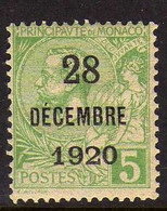 Monaco (1921) -Bapteme De La Princesse Antoinette 5 C.  -   Neuf ** - MNH - Ongebruikt
