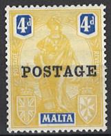 Malta 1926. Mi 108, SG 150, *, MLH - Malta