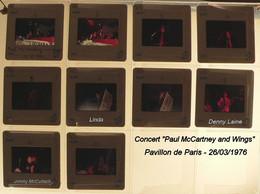 Concert Paul McCARTNEY And WINGS - Pavillon De PARIS 26/03/1976 - 10 Diapos - Diapositivas