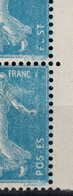 Variete - Plein De Lettres Manquantes Sur Paire Semeuse YV 140 N** (infimes Adherences De Gomme) - Abarten: 1900-20 Ungebraucht