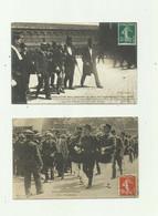 75 - PARIS - 2 CP - ZOLA AU PANTHEON - Une Arrestation ( Petit Defaut)gregory Qui Vient D'attenter A La Vie De Dreyfus - Pantheon