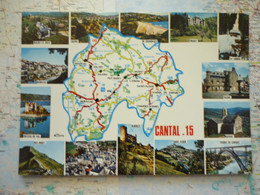 Carte Du Département Du Cantal Avec Vues Multiples - Zonder Classificatie