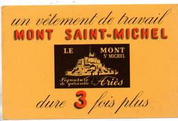 Buvard  Vêtement De Travail - Mont Saint Michel- Voir Scan Pour état - V