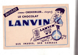 Buvard - Chocolat Lanvin- Voir Scan Pour état - Cocoa & Chocolat