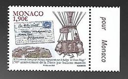 Monaco 2020 - Yv N° 3259 ** - 150e Anniversaire De La Poste Par Ballons Montés - Ungebraucht