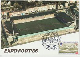 France 1986 Le Havre Expo Foot 86 - Matasellos Conmemorativos