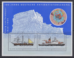 Germany 2001 Antarctica / 100J. Deutsche Antarktisforschung M/s  ** Mnh (50760) - Blocks & Sheetlets