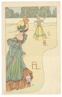 Femmes Art Nouveau - Jouant Au Croquet    (4794 ASO) - Sin Clasificación