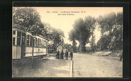 AK Lille, Le Nouveau Boulevard, Au Poste D`Octroi, Strassenbahn - Tramways