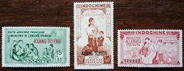 Kouang Tchéou - YT Aérien N°1 à 3 - Protection De L'enfance Indigène - 1942 - Neufs - Ungebraucht