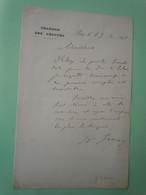 Lettre Autographe Georges GRAUX (1843-1900) DEPUTE Du PAS De CALAIS - Autographs
