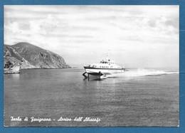 FAVIGNANA ARRIVO DELL'ALISCAFO TRAPANI VG. 1964 N°A359 - Trapani