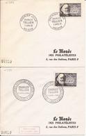 LOT DE 2 ENVELOPPES PREMIER JOUR CHARLES TELLIER AMIENS PARIS 1956 - Storia Postale