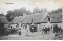 EN SOLOGNE -  1918 - INTERIEUR DE FERME - Autres Communes