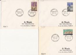 LOT DE 3 ENVELOPPES PREMIER JOUR 1958 MAUBEUGE SAINT-DIE SETE - Storia Postale