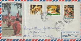 Lettre Polynésie 1986 Pour La France - Briefe U. Dokumente