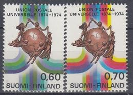 +M1125. Finland 1974. UPU. Michel 756-57. MNH(**) - Ungebraucht