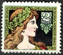 """Österreich ~1905 """" Deutscher Schulverein Von 1880 Bild Mucha ?"""" Vignette Cinderella Reklamemarke Poster Stamp Sluitzegel - Erinnophilie"""