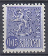 +M1128. Finland 1972. Lion Type 0.05 M. Michel 706 Y. MNH(**) - Nuevos