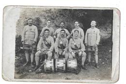 122 E REGIMENT MUSICIENS CLAIRONS ET TAMBOURS - CARTE PHOTO - Guerra 1914-18