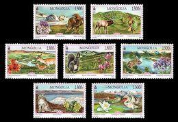 Mongolia (2020) - Set - /  Birds Of Prey - Flowers - Orchids - Rabbits - Águilas & Aves De Presa