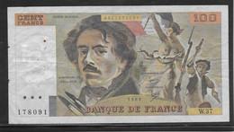 France 100 Francs Delacroix - Fayette N°69-4 - TB - 100 F 1978-1995 ''Delacroix''