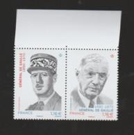 FRANCE / 2020 / Y&T N° 5442/5443 ? ** : Diptyque Général De Gaulle X 1 BdF Haut - Nuovi