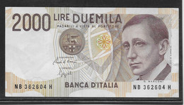 Italie - 2000 Lire - Pick N°115 - SUP - 2000 Lire