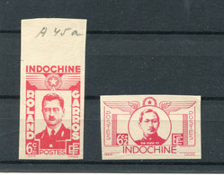 !!! PRIX FIXE : INDOCHINE, PAIRE N°274/275 NON DENTELEE NEUVE TOUJOURS SANS GOMME - Unused Stamps