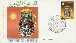 MAROC FDC 1987 SEMAINE DE L'AVEUGLE - Morocco (1956-...)