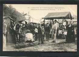 CPA - L'Assemblée De La St Augustin à EQUEURDREVILLE - Rôtisseurs Et Marchands De Moutons, Très Animé  (dos Non Divisé) - Equeurdreville