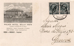 PALACE HOTEL BELLA VISTA - LANZO D'INTELVI - COMO - VIAGGIATA - Sonstige