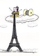 FRANCE CPM PARIS La Tour Eiffel  De François CASTAN     HUMOUR ! - Pintura & Cuadros