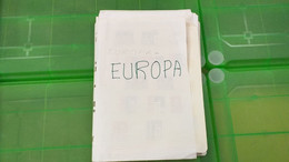 Lot N° TH 666 EUROPA Un Bon Lot De Timbres Neufs Xx - Sammlungen (im Alben)