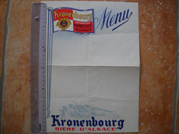 Grand Menu Vierge Pub Biere Kronenbourg . Avec Carte Au Dos . - Werbung