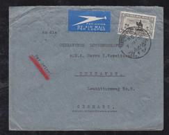 Sudan 1935 Airmail Cover KARTOUM PORT SUDAN To CUXHAVEN Germany From Crew Of Ship Ussukuma Deutsch Ost Afrika Linie - Sudan (...-1951)