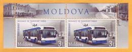 2013  Moldova  Moldau  Mint  Urban Transport  Trolleybus Tram, Tram, Horse Tram, Chisinau  2v. - Bus