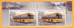 2013  Moldova  Moldau  Mint  Urban Transport. Bus Tram, Horse Tram, Chisinau 2v. - Bus