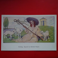 ILLUSTRATEUR FRUHLING AQUARELL VON REINHOLD PFEIFFER - 1900-1949