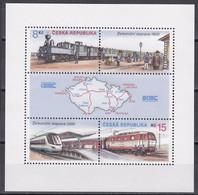 Md_ Tschechische Republik 2000 - Mi.Nr. Block 13 - Postfrisch MNH - Eisenbahnen Railways Lokomotiven Locomotives - Treni