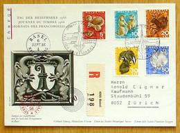 Schweiz Suisse Pro Juventute 1966: Zu 210-214 Mi 826-830 Yv 759-763 Mit O BASEL 4.XII.1966 TAG DER BRIEFMARKE - Stamp's Day