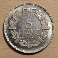 FAUSSE MONNAIE COPIE DE LA RARE 5 FRANCS LAVRILLIER 1939 COPIE - J. 5 Francs