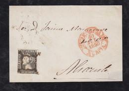 Spain 1850 Cover CARTAGENA To ALICANTE - Cartas