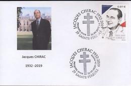 France - Jacques Chirac FDC Sainte Féréole 2020 Président De La République - 2010-....