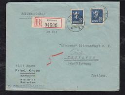 Norway Norwegen 1939 Registered Cover 3x30oere KIRKENES To CUXHAVEN Germany From Crew Member D. OSLEBSHAUSEN Ship - Briefe U. Dokumente