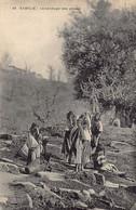 Kabylie - Le Séchage Des Olives - Professions
