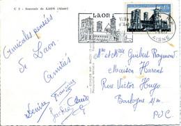SECAP LAON 1960 Ville D'art Timbre Concordant Cathédra^le De Laon Sur Carte Postale - Annullamenti Meccanici (pubblicitari)